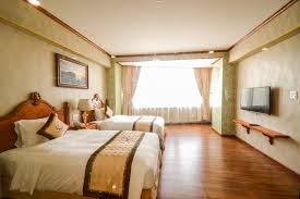 Phòng 2 giường single khách sạn Hương Việt Quy Nhơn